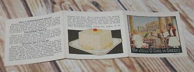 Vtg. Antique The Jell-O Jello Girl in Greece Advertising Tiny Pamphlet W/Recipes