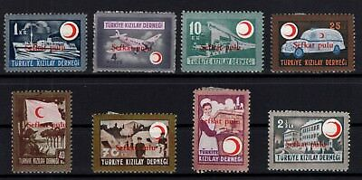 P61739/ Turkey Charity / Mi # 156 / 163 Full Set Neuf * / Mint Mh 256 €