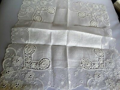 Lacy White  Wedding Hanky Handkerchief Made in Austria