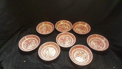 Johnson Brothers WILLOW PINK RED  Lot 32 Pieces