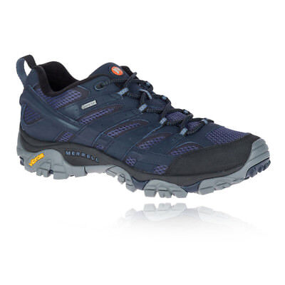 Merrell Mens Moab 2 GTX Walking Shoes Navy Blue Sports Outdoors Trainers