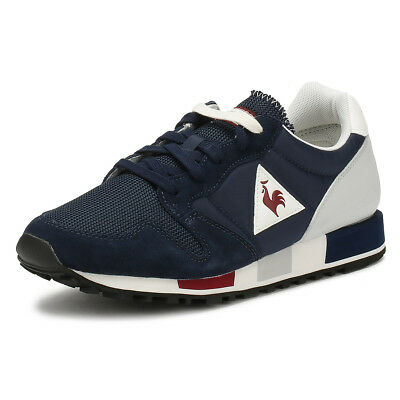 e79d7276ed85 Le Coq Sportif Mens Trainers Dress Blue Omega Nylon Sport Casual Shoes
