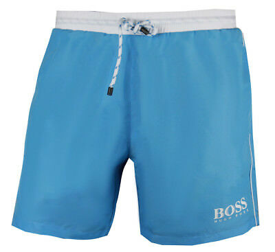 Hugo Boss Starfish Men/'s Swim Shorts Charcoal with white contrast