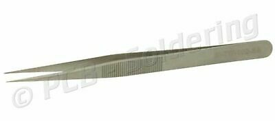 135mm Pointed Tipped Stainless Steel Tweezers Anti Static Electronics