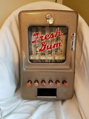 Vintage Coin Operated Stoner Fresh Gum Machine Penny Operated Chewing Gum
