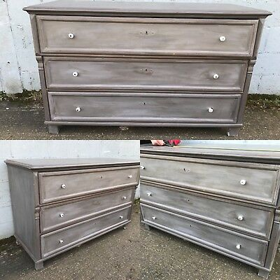 Beautiful, 19thC French Antique Chest Of Drawers, Vintage, Rare, Original, Paint