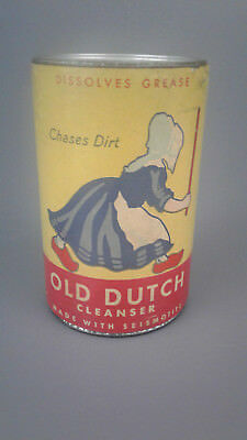 Vintage Old Dutch Cleanser Canister Never Opened