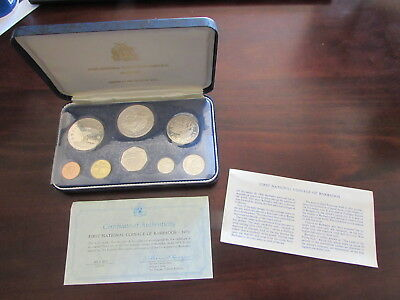 1973 Barbados Silver Proof Set First National Coins Minted Franklin Mint 8 Coin