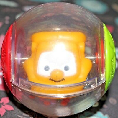 Fisher-Price Roll-A-Rounds Ball Yellow Dump Truck Peek A Boo Sensory Toy