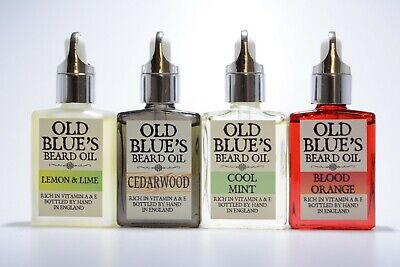 Old Blue's Beard Oil 30ml Bottles 4 Great Scents Natural Vitamin E