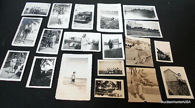 Ww2 Original Photos Us Soldier And Wife Or Girlfriend Lot Of 19