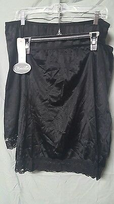 "2 Pack Wondermaid  20"" Long Black  Half Slips Size 3X"