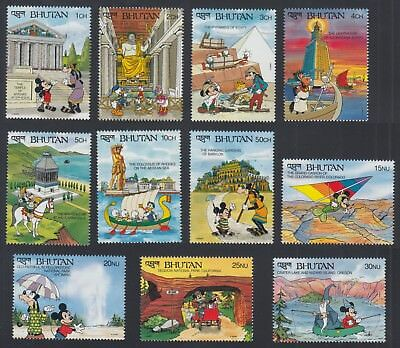 Bhutan 1991 Disney Wonders Of The World Stamps MNH set not complete