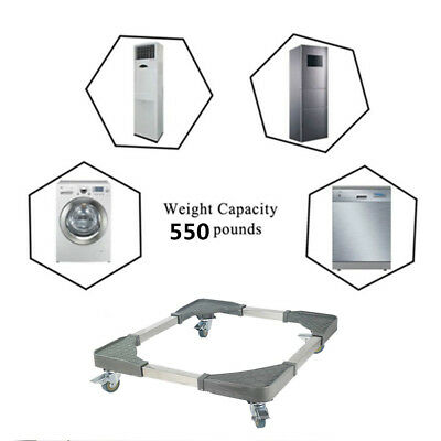 Adjustable Base Movable Carriage for Washine Machine Dryer Refrigirator Cabinet