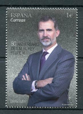 Spain 2018 MNH King Philip Felipe VI 50th Anniv 1v Set Royalty Stamps