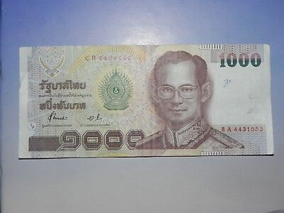 Thailand 1000 Baht Banknote, Circulated, JCcug 18232 - It's Back!