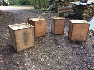 antique wooden Tea Chest for storage, house moving, all pre used. 11 available