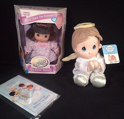 Precious Moments Lot x3 My First Baby doll, Prayer Pals stuffed Angel, Notepad