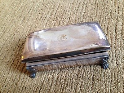 Vintage Poole Silver Plate Cigarette/Cigar Box - Cleveland Athletic Club