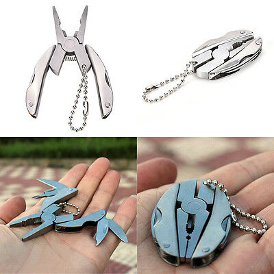 1 Pc Pocket Screwdriver Pliers Knife Keychain Folding Multi Function Tool Rz