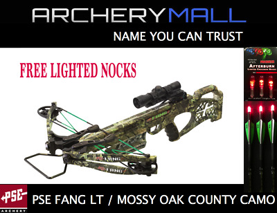 NEW PSE FANG LT 2018 MOSSY OAK CAMO with FREE lighted nocks