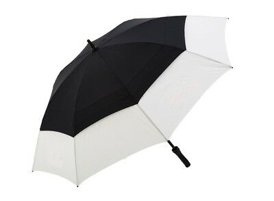 Golf Umbrella Automatic Double Windproof Vented Canopy Fibreglass - Black White