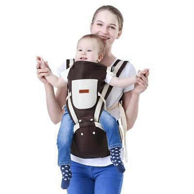 Portable Baby Infant Safety Ergo Front Back Chest Carrier Breathable Lap Strap