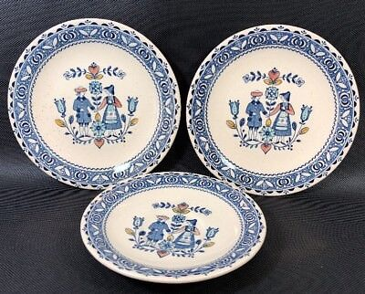 """Johnson Brothers Ironstone Hearts and Flowers 6.25"""" Salad Plates & Saucer 14K"""