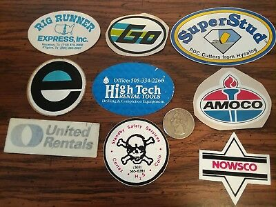 Small Set Oilfield Oil Gas Hard Hat Skull Guard Stickers with amoco