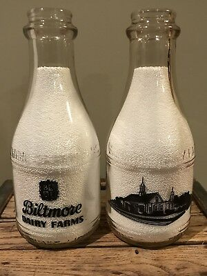 "Rare One Biltmore Dairy Quart Milk Bottle ""Dairy Bar"" Asheville NC"