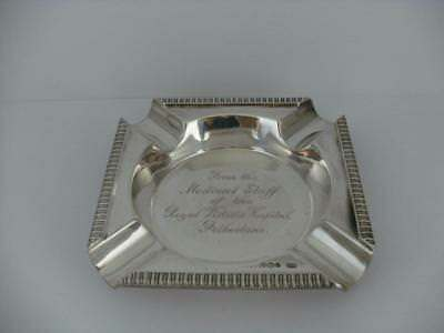 SOLID SILVER ASHTRAY Sheffield 1944