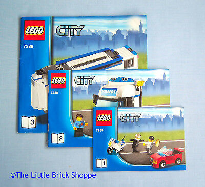 Lego 7993 Book 1 2 3 Instructions Only City Service Station