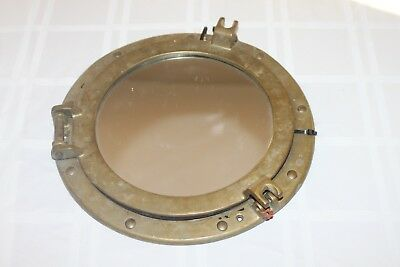 "11"" Brass Porthole Mirror ~ Nautical Maritime ~ Ships Port Hole Submarine Ocean"