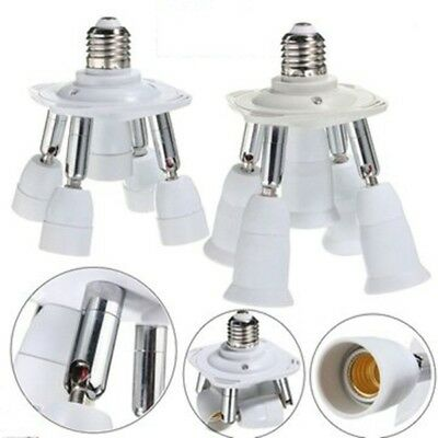 5 in 1 E27 Flexible Holder Socket Splitter Light Lamp Bulb Adapter Converter