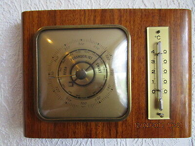 Altes Barometer, Thermometer in Echtholz. Fabrikat Torr. Kirschbaum hell, polier