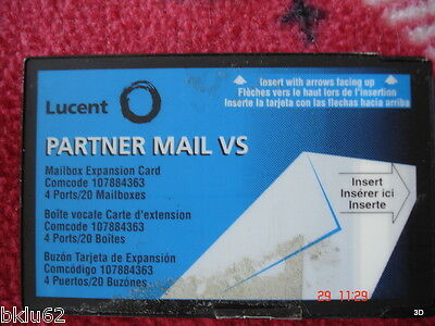 AT&T Partner Mail VS Mailbox Expansion Card 20 Mailboxes 4 Ports
