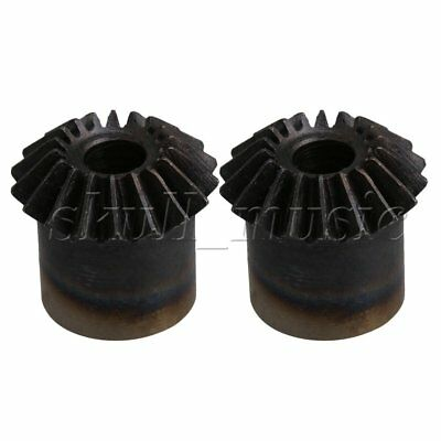 2PCS Steel 1 Mode 18T 6mm Hole Dia Bevel Gear for Mechanical Accessory