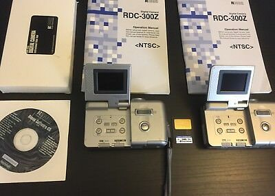Lot of 2- Ricoh RDC-300Z Silver Digital Camera 3x Zoom with Manuals DVD and VHS
