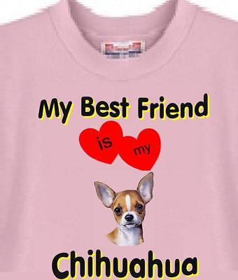 Dog T Shirt - My Best Friend Chihuahua - Adopt Animal Family  Men Women # 47