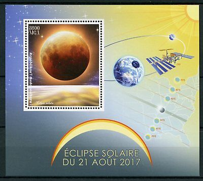 Madagascar 2017 MNH Solar Eclipse of Sun 1v S/S Space Stamps