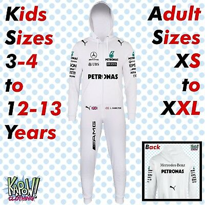 Lewis Hamilton F1 Formula 1 Mercedes AMG All-in-One Body Jump Suit Gift 44 GP 77