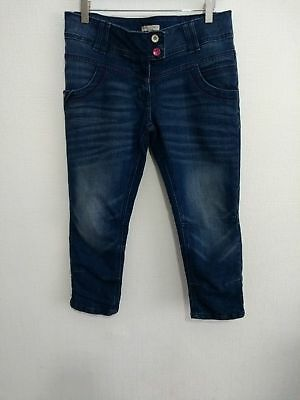 "M&S Girls Indigo Jnr Collection Denim Jeans Age 15Yrs W28""  Great  Condition #D6"