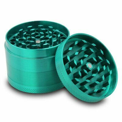 Zinc Alloy Grinder Tobacco Herb Spice Smoke Hand Chromium Green Crusher AU NEW