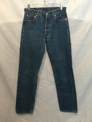 Levi's Women's Jeans Size 30X32 501 Straight Leg Medium Wash Vintage Button Fly