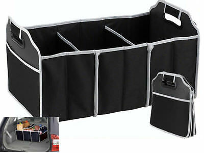 2in1 Car Boot Organiser Shopping Tidy Heavy Duty Collapsible Foldable Storage