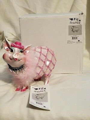 """Pig Invasion, Boa Babe Pig Bank, Pink, Character Collectable, 5x5""""x6.5""""x4"""""""