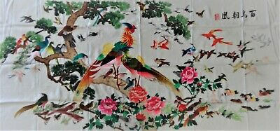 Handwoven Silk Chinese Embroidery - 100 Birds (200 cm x 93 cm) #3