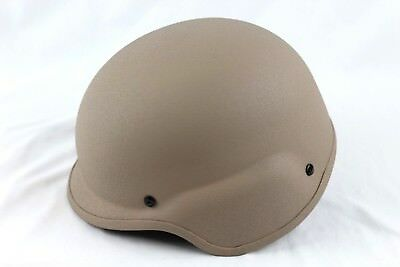 United Shield International PASGT Ballistic Helmet w/ Harness Tan XL New