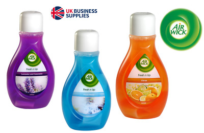 NEW! Airwick Fresh n Up Air Freshener Citrus,Lav n Cam,Fresh Water from £1.80 !