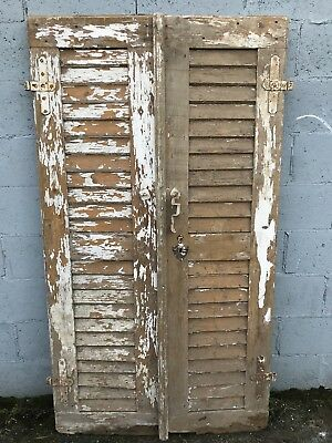 191cm Tall, Pair Of French Shutter Doors, Antique, Vintage, Country X2